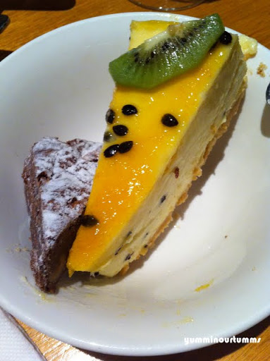 Passionfruit Cheesecake and Brownie Rendezvous Hotel Perth Buffet Desserts