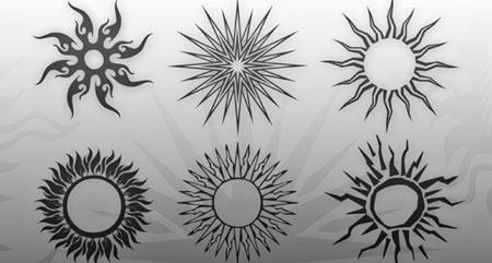 Tatuajes En Forma Del Sol Para Photoshop Pinceles