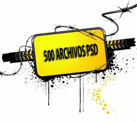 500 archivos psd para descargar gratis