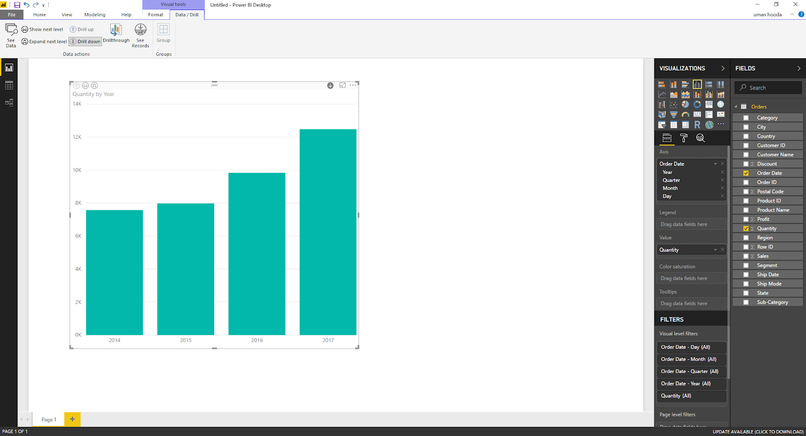 Drill In / Out on Your Data For Different Dates In Microsoft Power BI 39