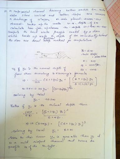 Fluid Mechanics Assignment - Civil Engineering - S4 - Cusatxpress