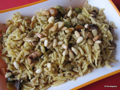 Mixed Vegetable And Nuts Rice