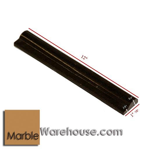 BLACK GALAXY CHAIR RAIL MOLDING BULLNOSE - GRANITE TILE
