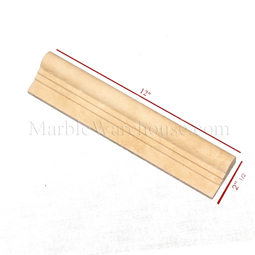Ogee Travertine Chair Rail Molding For Wall Honed