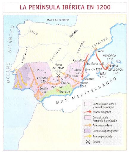 LA PENINSULA IBERICA EN 1200