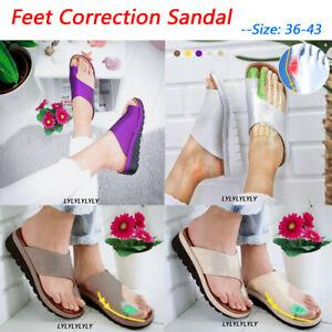 Para Mujer Cómodos Zapatos De Plataforma Sandalia-Cuero PU-Bunion corrector    eBay