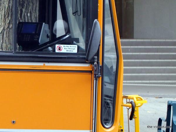bus window sticker
