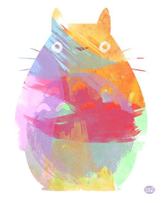 Totoro by Teya Saveleva