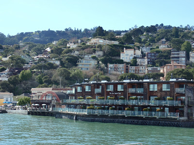 Pulling into the ferry dock at Sausalito