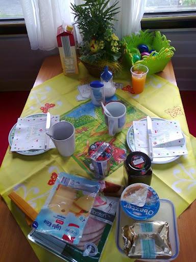 Mein Frühstück Oster Tisch