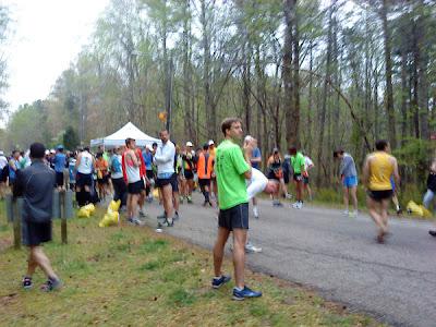 pre-race congregating