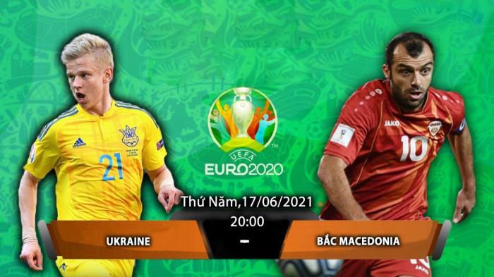 Lịch truyền hình trực tiếp EURO 2020 Ukraine vs Bắc Macedonia