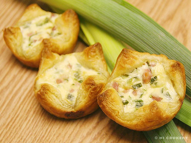 Leek and Ham Tarts | HI COOKERY