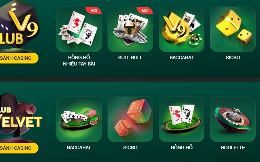 Thông tin về Casino trực tuyến V9bet