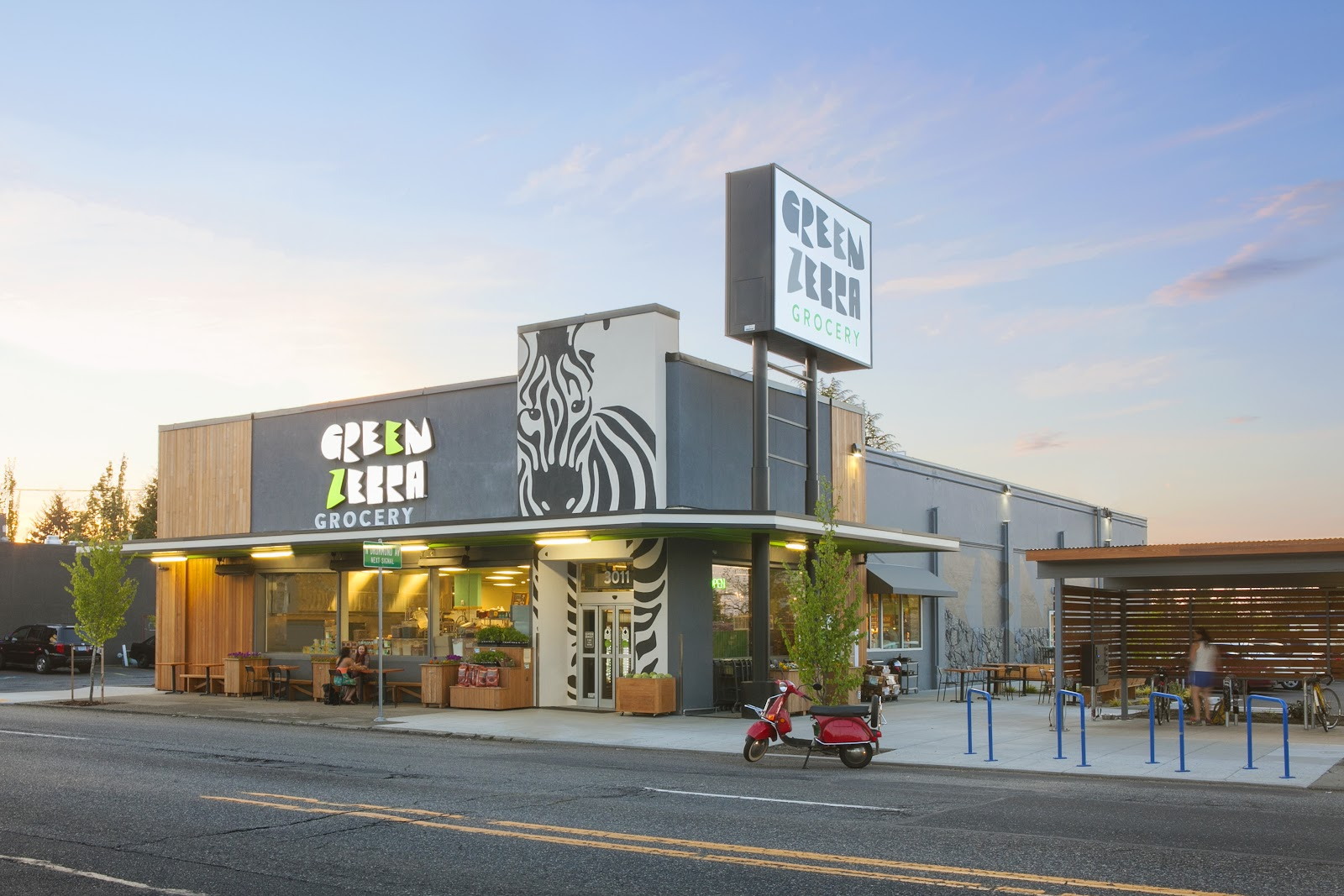 Green Zebra's store front.