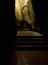 Hyperfocal example: Staircase in tunnel - Rock City, Tennessee (TN)