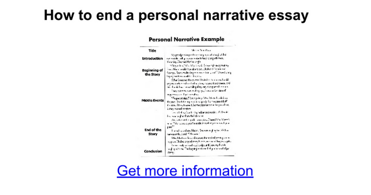 narrative personal essays Be sure to review, also, the section on the narrative essaynarrative and personal essays have much in common we have included several.