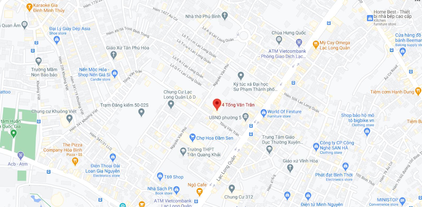 Địa chỉ Văn phòng nhà xe Huệ Nghĩa tại Sài Gòn