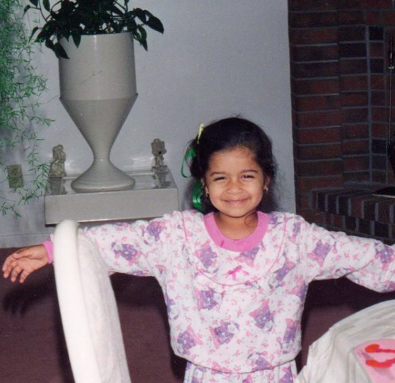 Lilly Singh as a child
