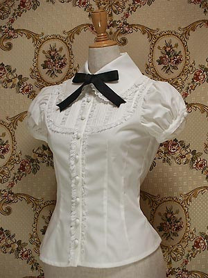 Selling Mary Magdalene Puff Sleeve Yoke Blouse (altered) in Offwhite
