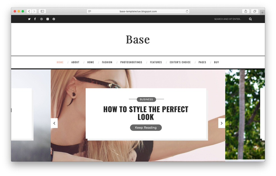 Template Blogger Responsive Base