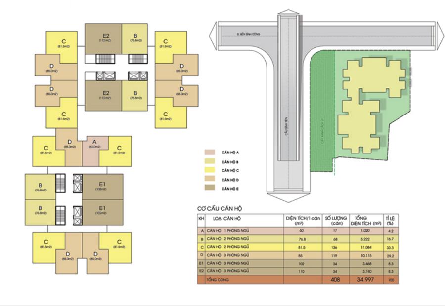 Mặt bằng chung cư của các dự án bất động sản