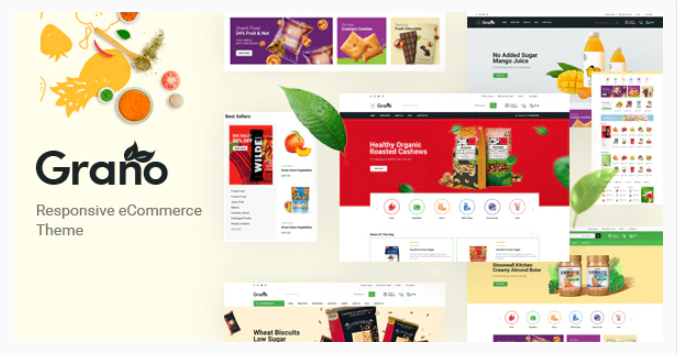 Opencart food store theme