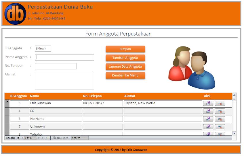 Download Aplikasi Perpustakaan Berbasis Ms Access