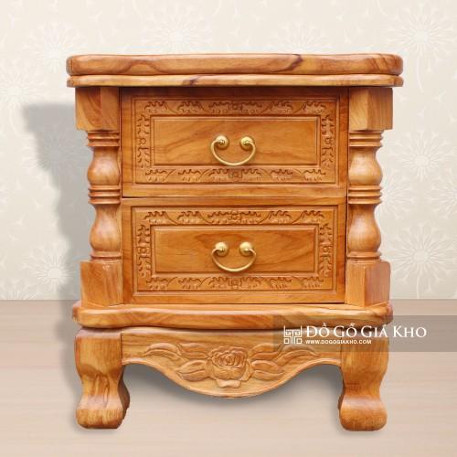 Tủ đầu giường gỗ Gõ - TDG015