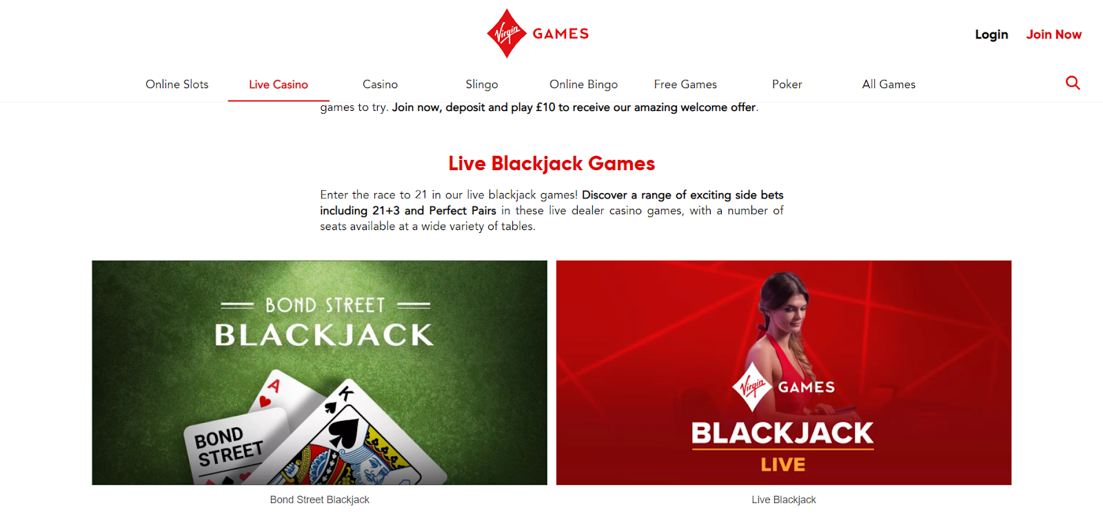 virgin games casino games