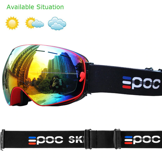 Double Layer Anti-Fog Ski Goggles