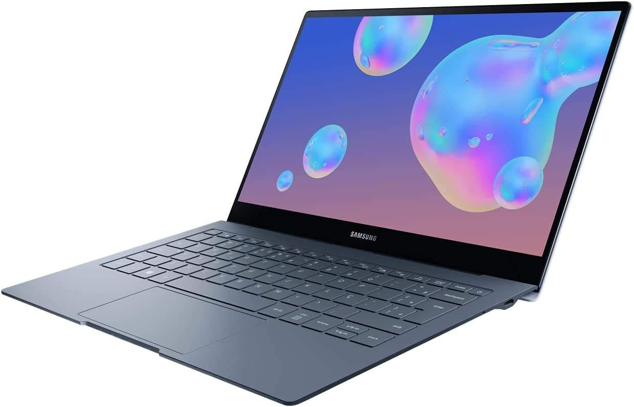 Imagem de notebook da marca Samsung e modelo  Galaxy Book S