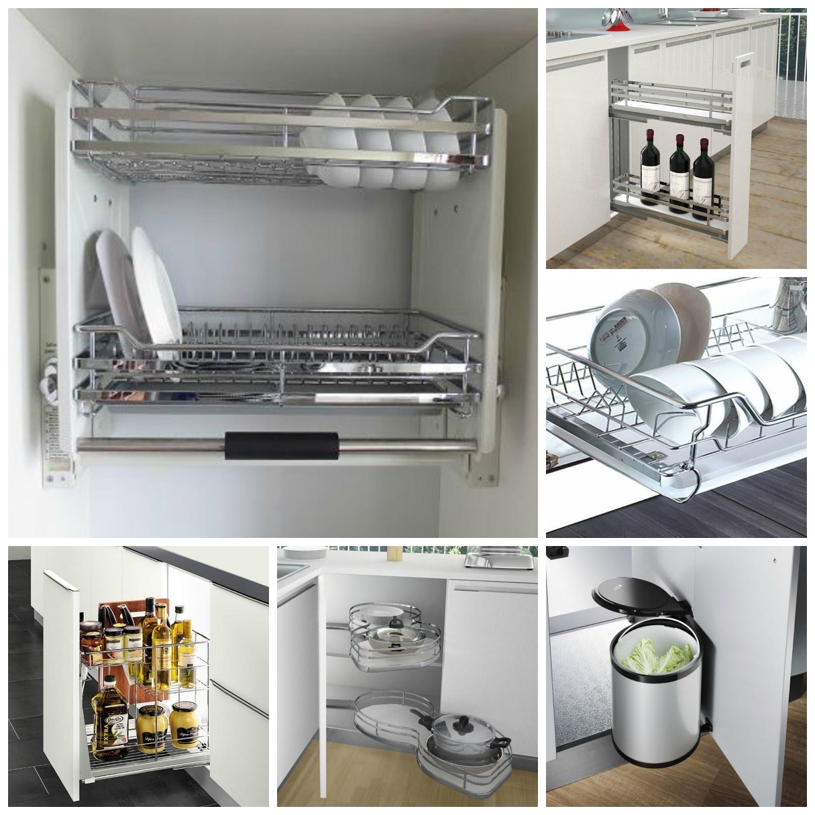Chất liệu phụ kiện của tủ bếp hiện đại