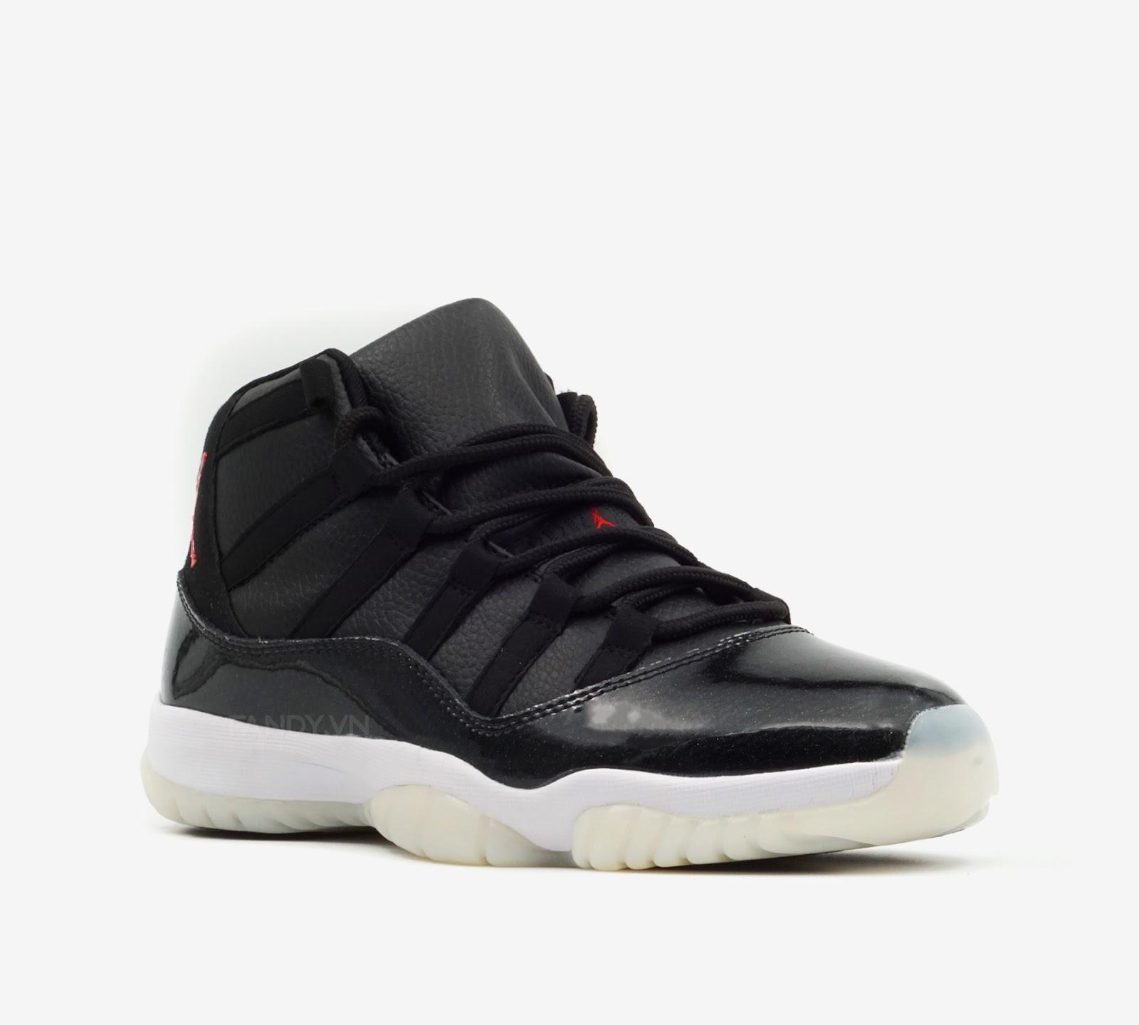 Giày Nike Air Jordan 11 Retro  72-10  Black/Gym Red-White