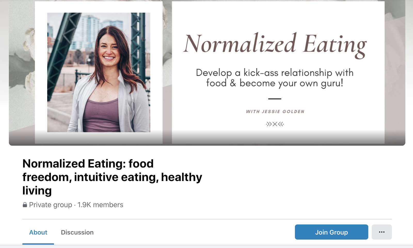 Normalized Eating Facebook group cover