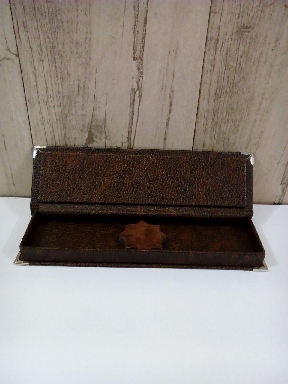 جعبه مضراب سنتور چرم سفارشی کبیری