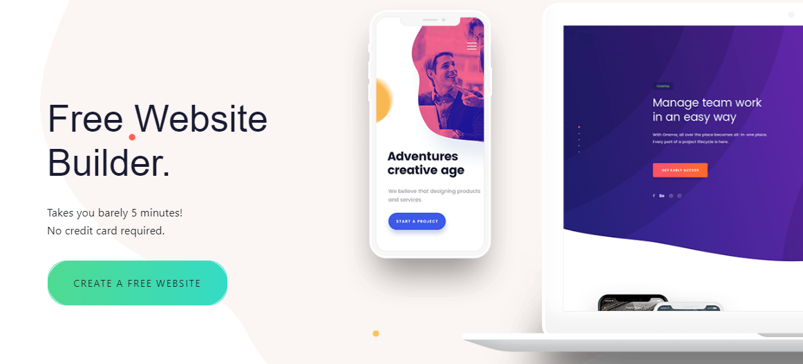 how to create a free website in South Africa