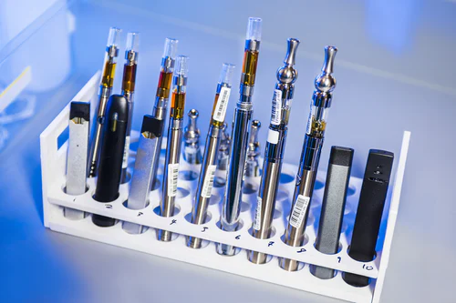 What smoking tool gets you the highest? Some would say the vape pens shown here.