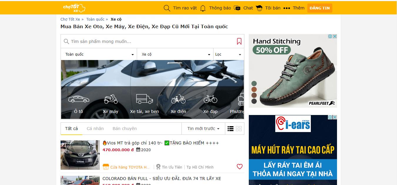hình ảnh 2 Top 15 Trang Web Mua Bán Xe Ô Tô Uy Tín Nhất Việt Nam
