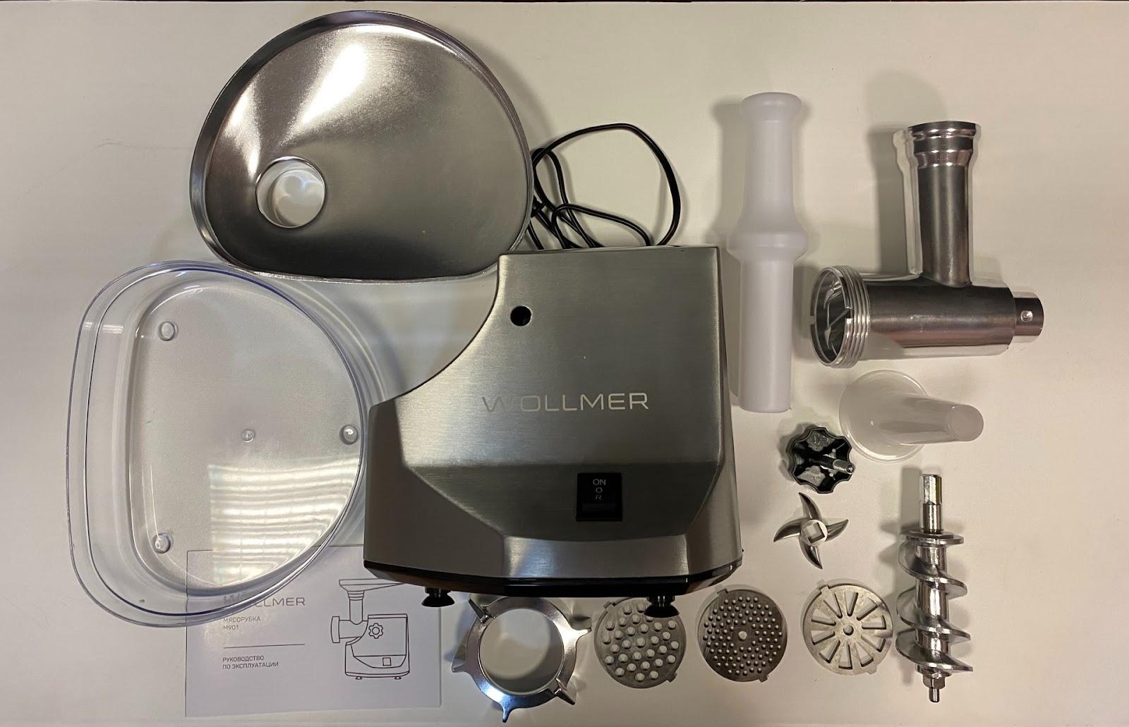 Мясорубка  Wollmer M901 все комплектующие