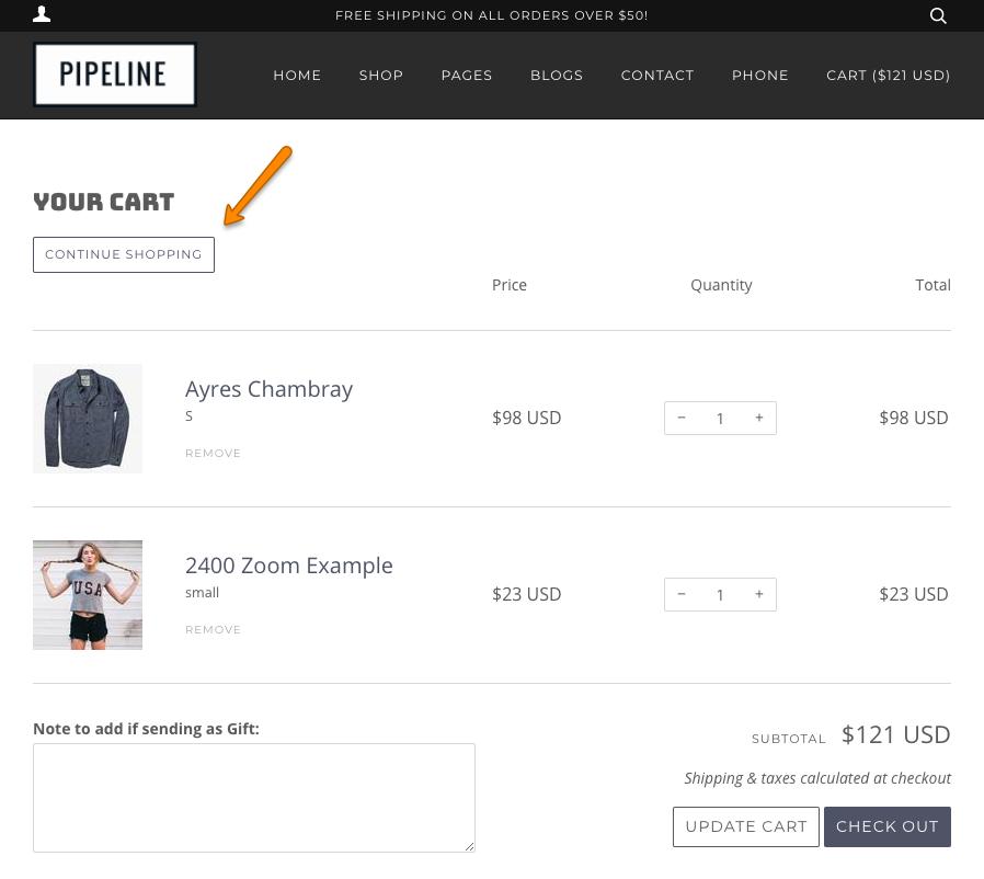 Continue shopping giúp khách thêm sản phẩm vào giỏ hàng nhanh hơn
