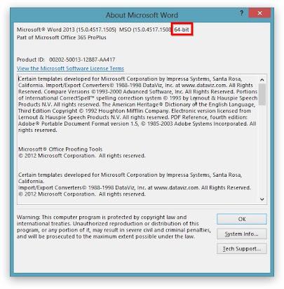 Microsoft office 32 64 bit