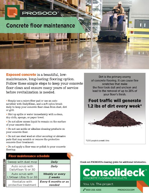 2-sided flyer on retail floor maintanence