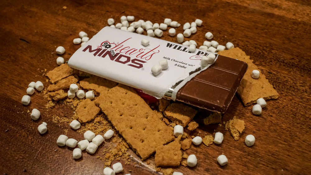 s'mores chocolate bar ripped open