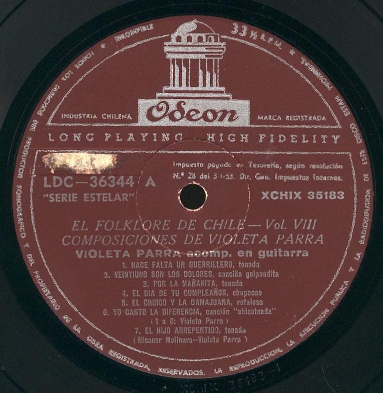 La imagen tiene un atributo ALT vacío; su nombre de archivo es 1961-Toda-Violeta-Parra-lado-A-1.jpg
