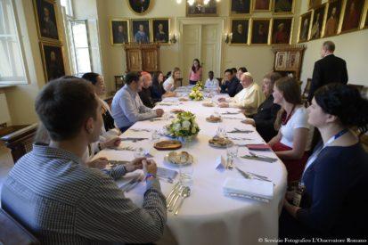 SS. Papa Francesco - Viaggio Polonia GMG-Pranzo con i giovani 30-07-2016 @Servizio Fotografico - L'Osservatore Romano
