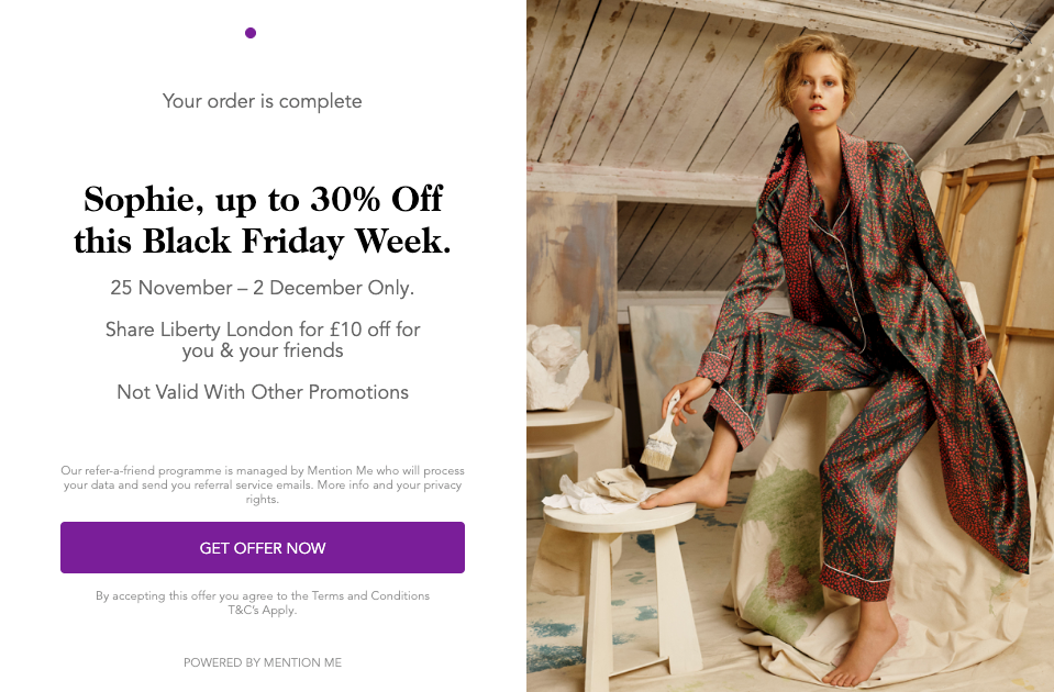 Liberty London Black Friday promotion