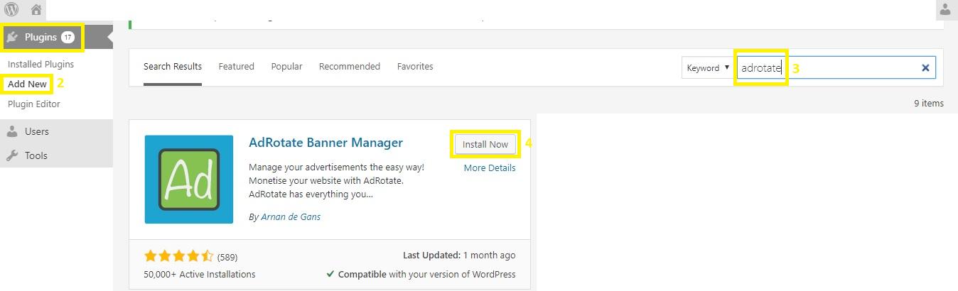 Cara Pasang Iklan di WordPress - Install AdRotate