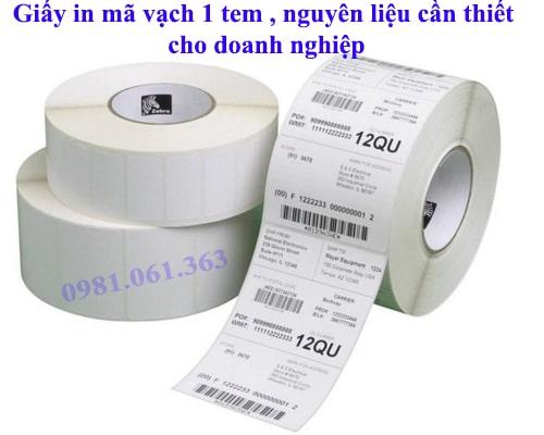 bán giấy in mã vạch 1 tem