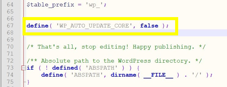 Image of how to add code to your wp-config file